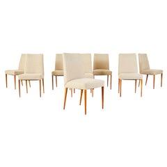 Set of Eight Mid-Century Scandinavian Modern Style Dining Chairs