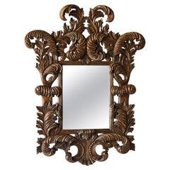 Oversize 1940s French Rococo Revival Mirror