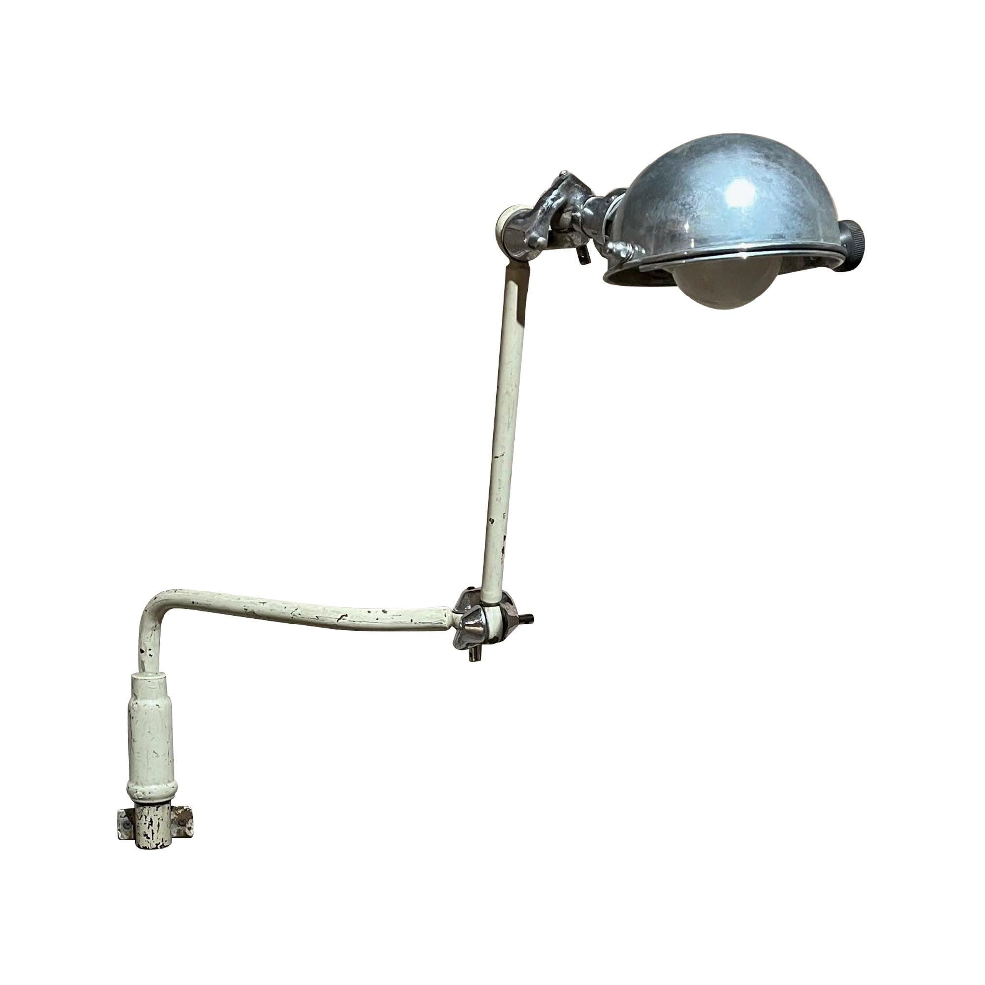 Vintage Bronze Medical Wall Sconce Adjustable Light Industrial Dental Lamp 1930s
