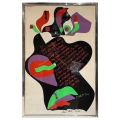 by Samuel Martin 1971 Poster John Donne for Whom the Bell Tolls in Vivid Color