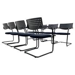 Set of 8 Antonio Citterio & Glen Oliver Löw 'Visavis' Chairs Vitra, Germany 1997