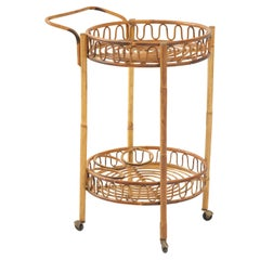 Italian Vintage Bamboo Bar Cart