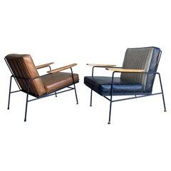 Mid-Century Modern Richard McCarthy Iron Lounge Chairs a Pair