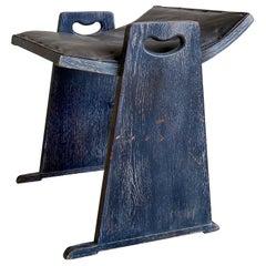 Vintage Studio Craft Cerused Ebonized Oak Vanity Chair