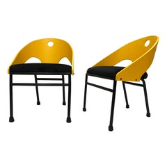 1980s Post-Modern Memphis Style Chairs, 3 Pairs Available