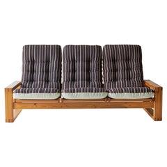 Mid-Century Swedish Sofa with Asoke Textile Upholstery