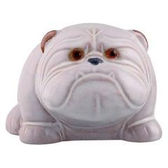 Jie Ceramics, Sweden, Bulldog in Hand-Painted Glazed Ceramics