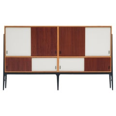 Alfred Hendrickx Exclusive Large Sideboard with Black Lacquered Base, 1950s