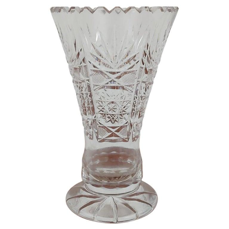 Crystal Vase, Poland, 1970s For Sale