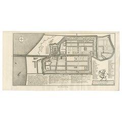 Antique Map of Batavia by Van Schley 'c.1750'