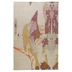 Wool & Silk Madgascar Modern Abstract Rug by Eskayel for Doris Leslie Blau