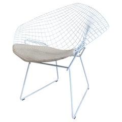 Diamond Chair, Steel White by Harry Bertoia for Knoll Inc./Knoll International
