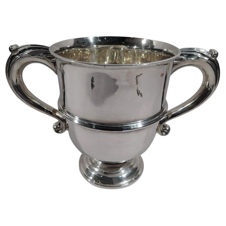 Antique English Victorian Classical Sterling Silver Trophy Cup For Sale