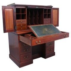 Superb Quality 19th Century Mahogany Secretaire Desk Cabinet
