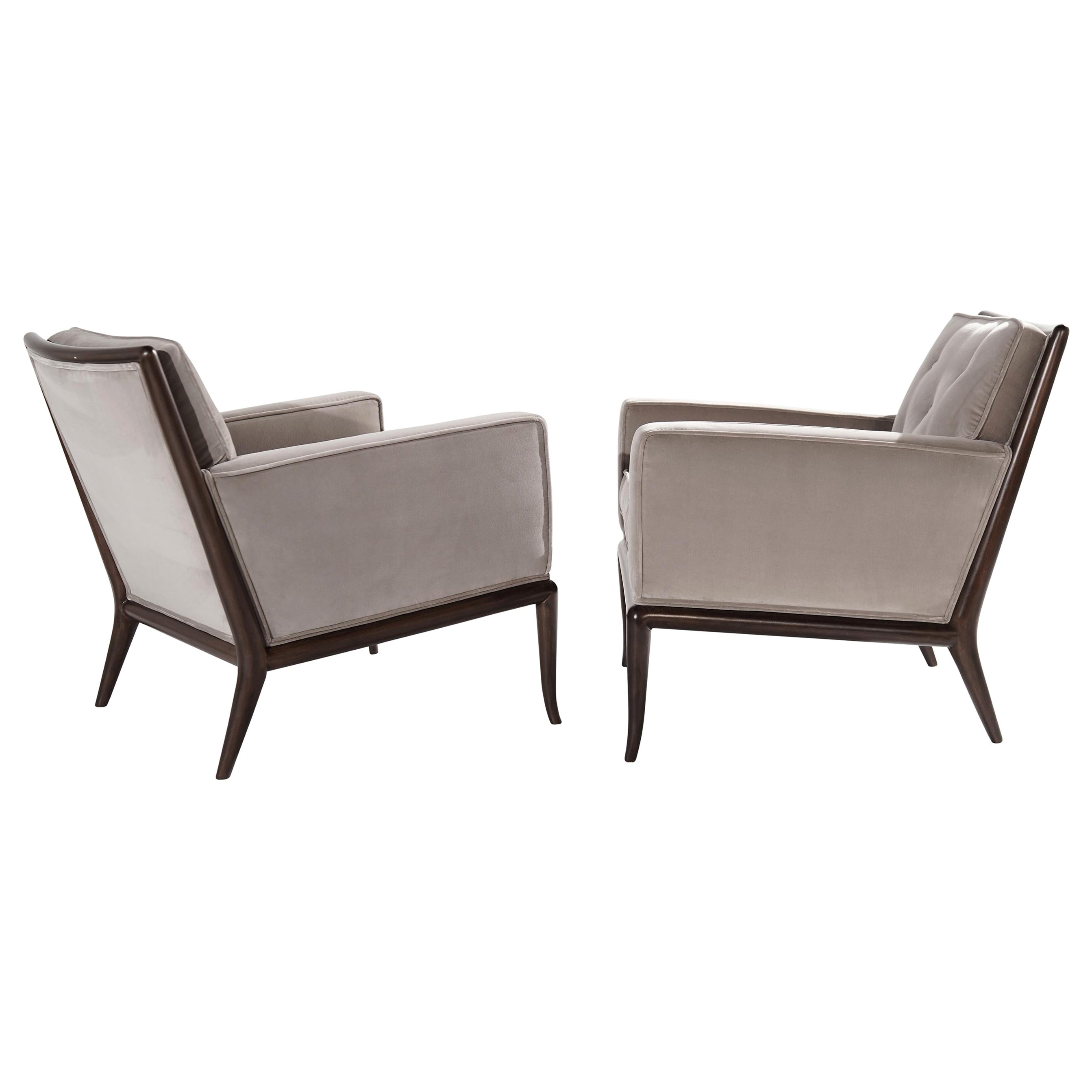 Pair of Club Chairs by T.H. Robsjohn-Gibbings for Widdicomb, 1950s