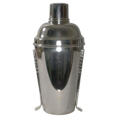 Rare Large English Golfing Cocktail Shaker by Walker & Hall c.1930