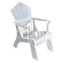 Modern Lucite Lounge Arm Chair
