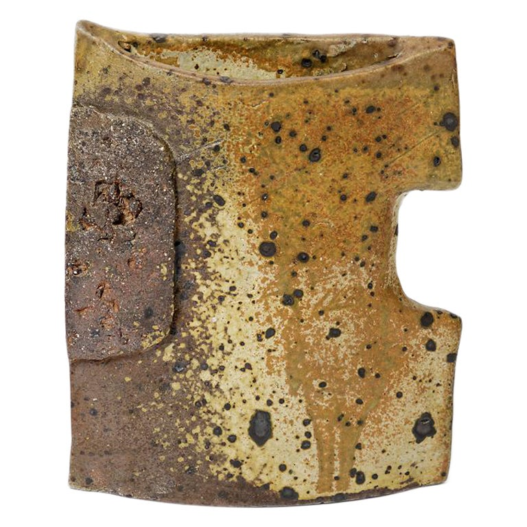 Brown Stoneware Ceramic Vase by Alain Girel La Borne 1970 Mid Century Design