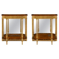 Pair of Early 19th Century Adams Style Console Tables
