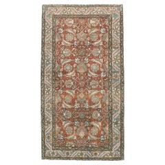 Early 20th Century Handmade Persian Heriz Throw Rug