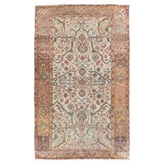 Early 20th Century Handmade Persian Heriz Large Room Size Carpet