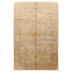21st Century Handmade Persian Silk Quom Accent Carpet