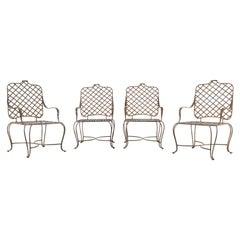 Set of Four Gregorius Pineo Iron Twig Garden Armchairs