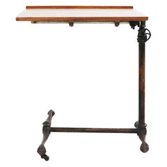 19th Century Adjustable Drafting Table in Cast Iron