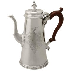 Antique 18th Century Sterling Silver Coffee Pot by Gabriel Sleath