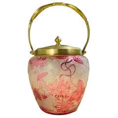 Art Nouveau Baccarat Crystal Cookie Lidded Jar/Bowl