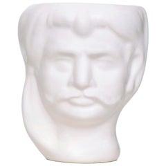 21st Century, Sicilian Moor's Head Design Ceramic Vase Handmade Made in Italy