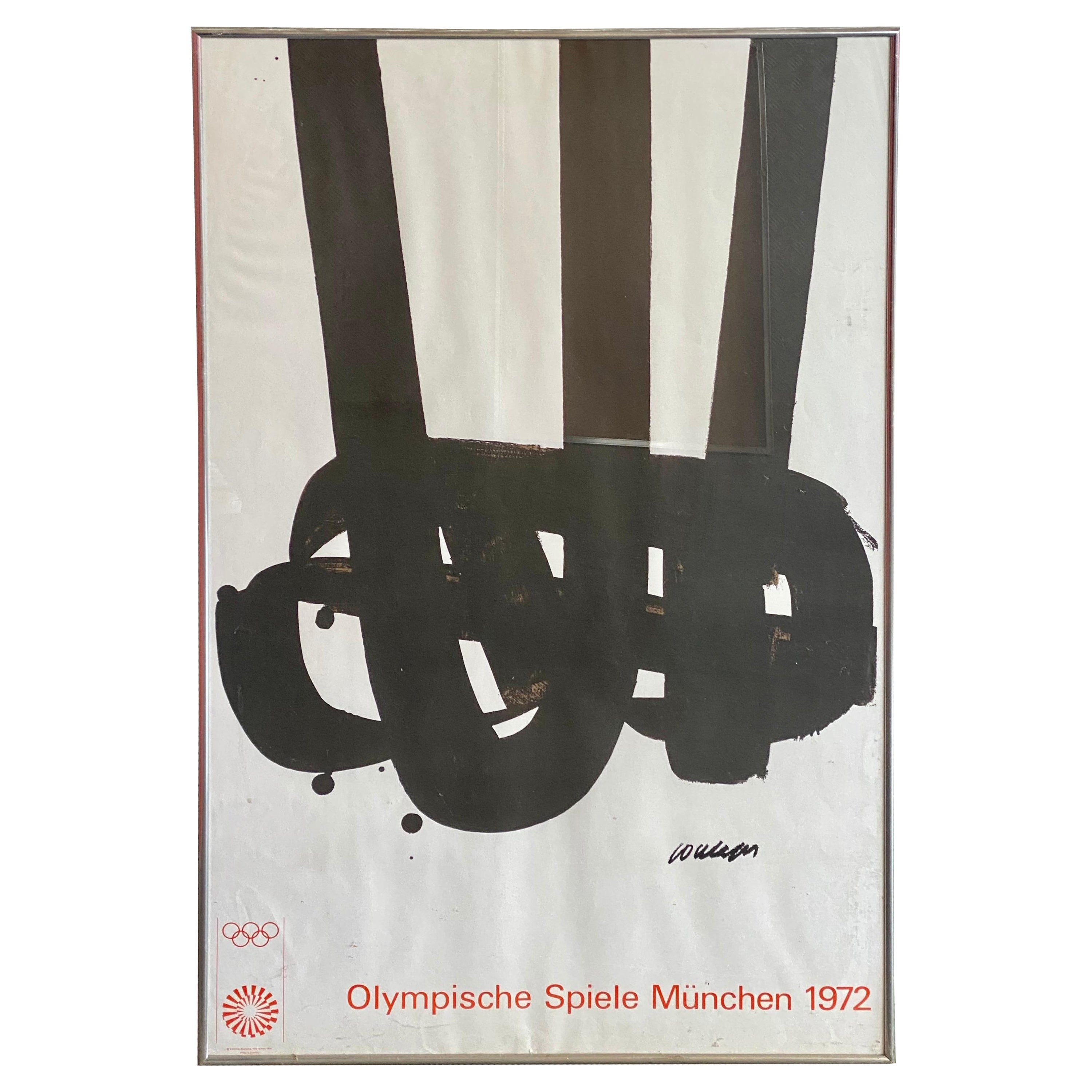 Original Vintage Poster Olympic Games in Munich 1972 Artist Pierre Soulages
