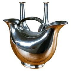 1930s Set of Three Danish Just Andersen Art Deco Pewter Vases