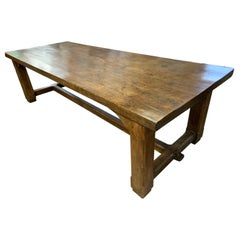 Large 18th Century Style Oak Refectory Dining Table
