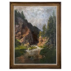 Framed Oil Painting on Canvas by Walter Kopp