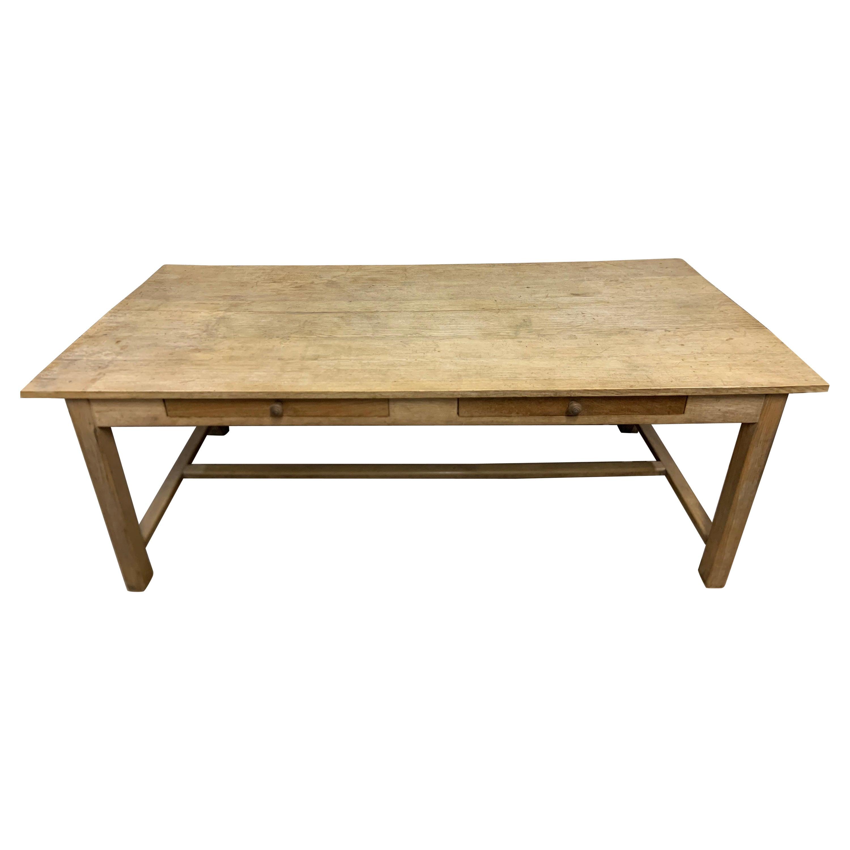 Vintage Pale Farmhouse Table