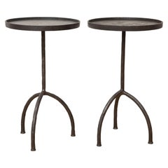 Tripod Hand Forged Side Tables, in Stock