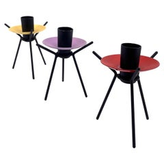 Set of 3 Atomic Danish Modern Age Candleholders by Laurids Lonborg