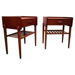 Danish Nightstands from Omann Jun, 1960´s Mid-Century Modern Bedside Tables