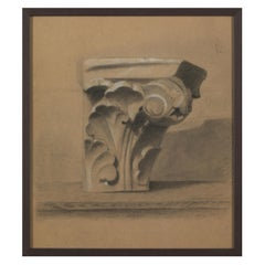 Unknown Academy Student 19th C Drawing, Architecture