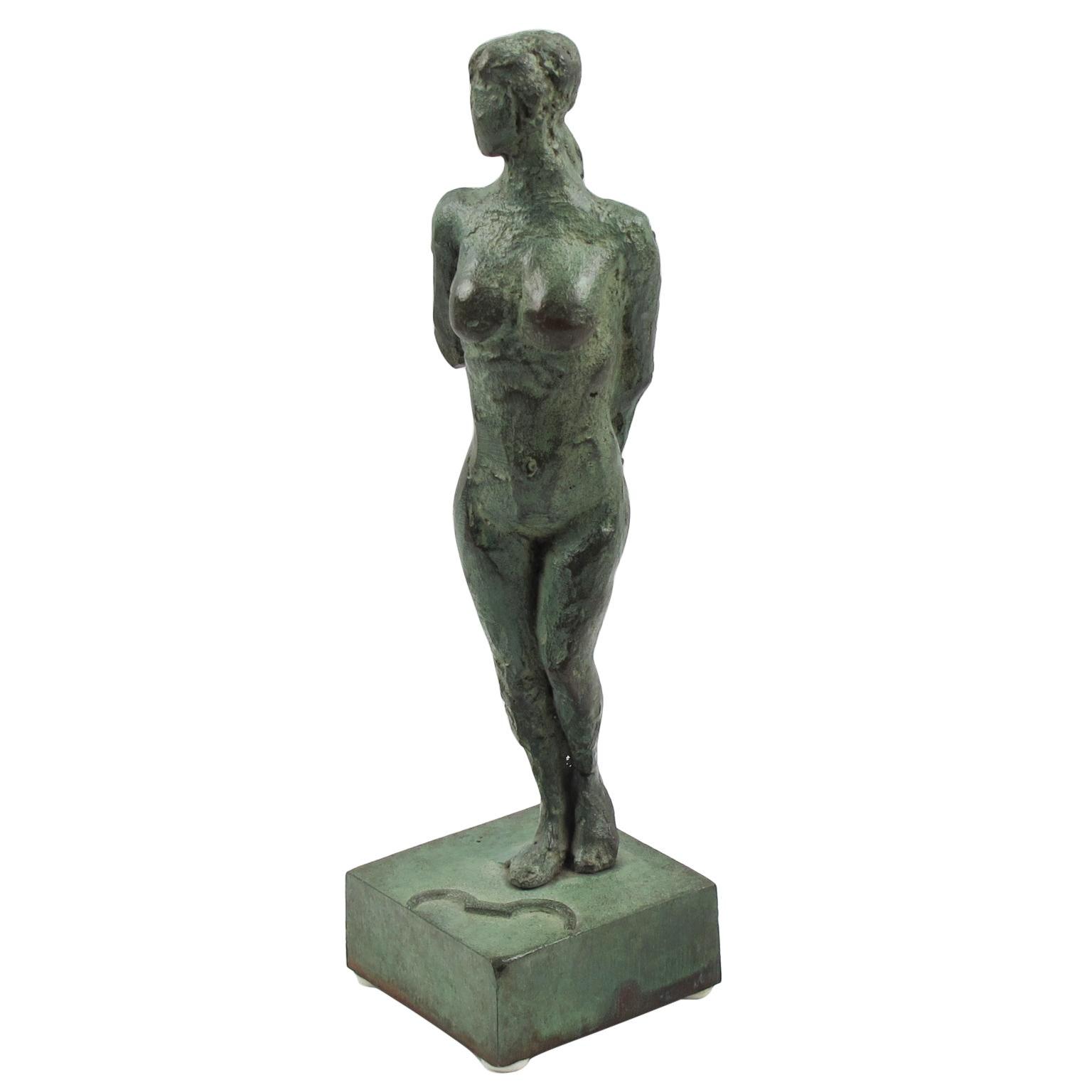 French Art Deco Bronze Sculpture Artemis Diana the Huntress