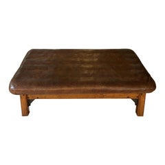 Fabulous Huge Vintage Leather Daybed/Coffee Table/Bench