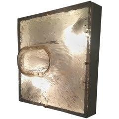 Set of 6 Murano Glass Sconces on Metal Box