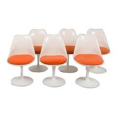 "Eero Saarinen & Knoll,""Tulip"" 6 Tulip Chairs"