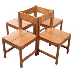 Tapio Wirkkala Pine Dining Chairs, 1960s