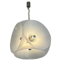 Murano Glass Metal Pendant Light by Carlo Nason for Mazzega, Italy, 1970s