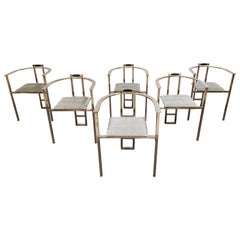 Vintage Dining Chairs by Belgo Chrom, Set of 6, 1980s