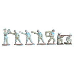 Vintage Collection of Seven Small Lead Marine Soldiers