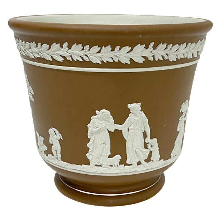 Dudson Brothers of Hanley England Jasperware Cache Pot