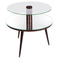Vintage French Round Coffee Table Made in 1960s